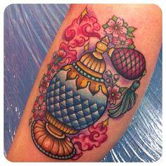 sarahktattoo~ cute little perfume bottle tattoo