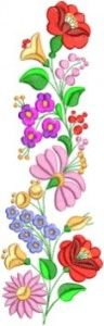Kalocsai hímzésminta 308-10 Hungarian Embroidery, Tole Painting, Scandinavian Design, Folk Art, Embroidery Designs, Embellishments, Vibrant Colors, Symbols, Graphic Design