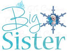 Frozen Anna Elsa Big Sister/Little Sister DIY shirts