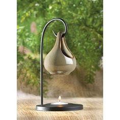 Amazon.com - Gifts & Decor Folk Art Porcelain Tear Drop Oil Warmer Candle Holder - Tea Light Holders