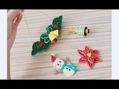Quilling of Christmas Ideas -Christmas Card - Easy & Simple Christmas design 25 - YouTube