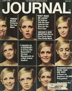 Ladies Home Journal, Twiggy cover, 1967