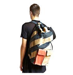 Leh Men's Oversized Leather Duffle Back Pack