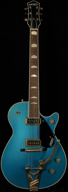 Model : Masterbuilt G6128CS 1957 Duo Jet Relic. This Lake Placid Blue beauty is one of the richest-sounding Duo Jets I've ever played. All up and down the neck, overtones bloom after the initial attack and surround you with thick, juicy harmonic content. | eBay!