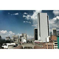 City buildings.