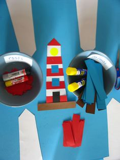 Make your own lighthouse activity Preschool Scavenger Hunt, Preschool Activities, Lighthouse Keepers Lunch, Letter L Crafts, Katie Morag, Little Red Lighthouse, Kindergarten, Transportation Theme, School Displays