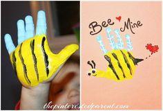 BEE MINE HANPRINT VALENTINE....this is such a cute card idea!!