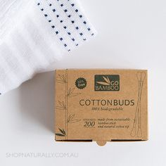 100% biodegradable Cotton Buds made from sustainable bamboo and natural cotton (200)
