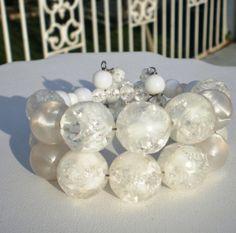 Vintage Bracelet / Bangle / Cuff  Wrap Huge White by BagsnBling, $14.50