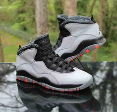 a7e6b44939a1 Nike Air Jordan 10 Retro Cool Grey Men s Size 9.5 Infrared Black 310805-023