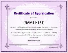 30 free certificate of appreciation templates and letters - Free Certificate Templates For Word Download