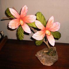 Minha Primeira orquídea feita em E.V.A  foi a minha primeira arte em Flores de E.V.A