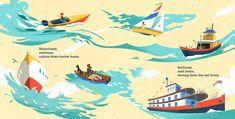 Mick Wiggins Illustration for Boats Float!