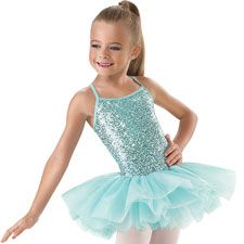 Stunning sequence leotard with attached tutu by Little Stars. Perfect for any little DANCER!