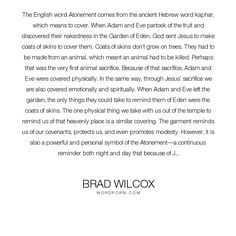 "Brad Wilcox - ""The English word Atonement comes from the ancient Hebrew word kaphar, which means..."". religion, jesus, jesus-christ, atonement, temple, lds, mormon, religion-christianity, atonement-of-christ"