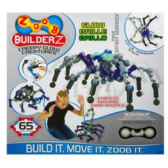 Construction loving 10 year old Kids will enjoy creating models with this Zoob Creepy Glow Creatures. A fab gift for any occasion.