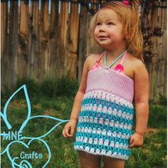 Any Size Crochet Swimsuit Cover / for adults also / Moms match your daughter's outfit / FREE CROCHET pattern All Free Crochet, Crochet For Kids, Crochet Top, Crochet Hats, Knitting For Kids, Baby Knitting, Kids Purse, Mommy And Me Outfits, Pink Headbands