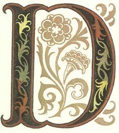 グリム童話:ルンペルシュティルツキン 装飾文字 Grimm's Fairy Tales:Rumplestiltskin / Letters