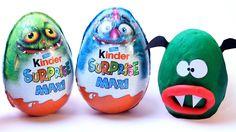 Giant Kinder Surprise Maxi Monster Egg Opening