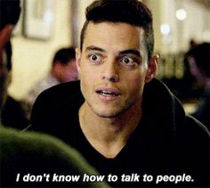 "Eliott Alderson (Rami Malek) - Mr. Robot; ""I don't know how to talk to people."""