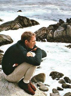 Steve McQueen at the beach
