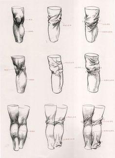 Рисунок одежды и складок на теле / Drawing folds and clothes on body