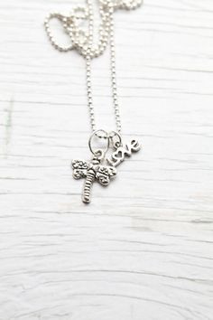 Dragonfly & love Pendant