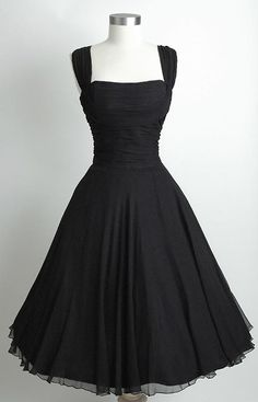 Black retro dress. This is so my style!! Love it.
