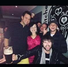 Niall with his friends last night