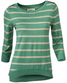 Natural Reflections® High Low Stripe Sweater for Ladies - 3/4 Sleeve | Bass Pro Shops