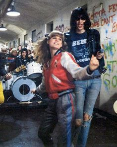 PJ Soles as Riff Randell with the Ramones in Rock N Roll High School (1979)