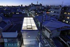 Mosaic House : Modern Residential Architecture by TNA of Japan Modern Residential Architecture, Architecture Details, Interior Architecture, Interior Design, Japanese Lifestyle, Tower House, Japanese House, Prefab, Landscape Art