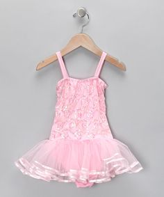 Look at this Pink Chloe Skirted Leotard - Infant, Toddler & Girls on #zulily today!