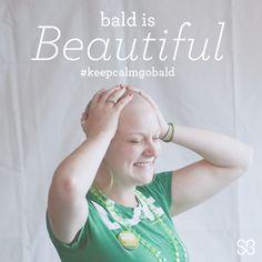 #stbaldricks shavees know beauty of a different kind. #baldisbeautiful #keepcalmgobald