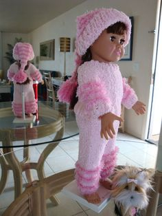 Ladyfingers - AG doll - My Avatar Photo Pink Sweater, Pants, Tossle Cap