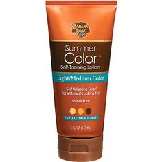 Banana Boat, Summer Color Self-Tanning Lotion, Light/Medium Color, for all Skin Tones. A touch of wrinkle-free color ;) Great reviews!