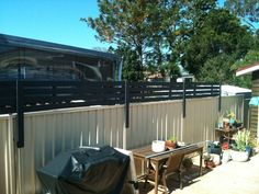 Picture of Wood Privacy Screen To Attach To Colourbond Fence
