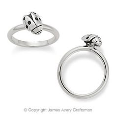 Ladybug Stackable Ring from James Avery OOO I like it :)
