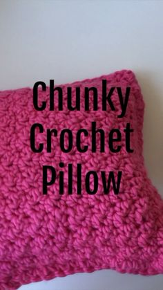 DIY Chunky Crochet Pillow
