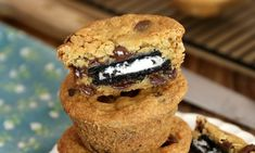 Oreo Stuffed Chocolate Chip Cookies – The BEST soft and chewy big chocolate chip cookies stuffed with Oreos. See how to make them!