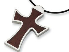 Chisel Stainless Steel Leather Cord Wood Cross Necklace Finejewelers. $37.99. Free Chisel Jewelry Packaging. Guaranteed Authentic from the Chisel designer line
