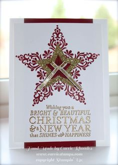 By Carrie Roades - Stampin' Up! Bright & Beautiful Christmas Card