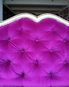 Little Green Notebook: How to Upholster a Framed Diamond Tufted Headboard