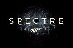 """A still from the 2015 James Bond film trailer for """"Sprectre."""" I like how the bullet hole is encompassed in the title."""
