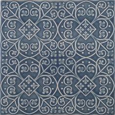 American handmade ceramic tile with quatrefoild design by Pratt and Larson