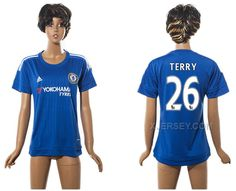 http://www.xjersey.com/201516-chelsea-26-terry-home-women-jersey.html 2015-16 CHELSEA 26 TERRY HOME WOMEN JERSEY Only $35.00 , Free Shipping!