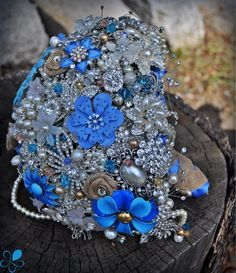 Country Rustic Bouquet - Blue Petyl Bouquets#wedding #bouquet
