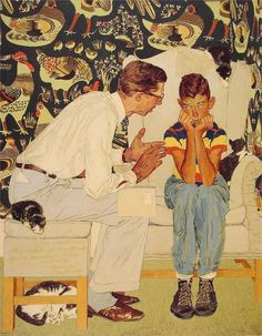 """Norman Rockwell """"The Facts of Life"""" (1951)   # Pin++ for Pinterest .......................GREAT PICTURE...A PICTURE OF """"US""""."""