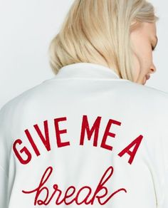 Image 7 of EMBROIDERED BOMBER JACKET from Zara