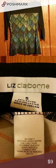 Liz Claiborne 3/4 sleeve shirt Comfy casual shirt. Size small. Liz Claiborne Tops Tees - Long Sleeve